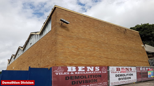 Bens Demolition Division photo Factory demolition Crews Hole Road, Bristol for Prestige Developments