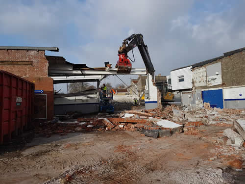 Bens Demolition Division photo Commercial property demolition - ATS Garage, Bedminster, for UKS Group