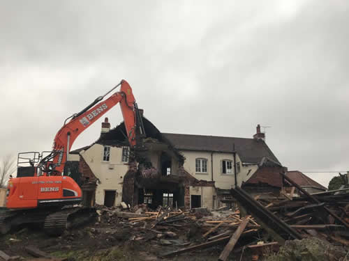 Bens Demolition Division job Demolition of the The Shant Pub, Kingswood for Highridge Construction photo number 3