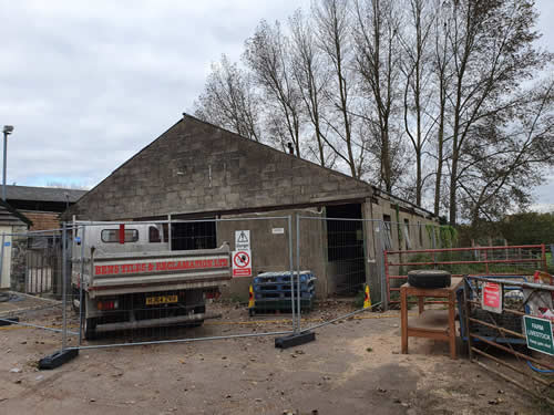 Bens Demolition Division photo Elm Tree Farm, Stapleton for the Brandon Trust, Bristol