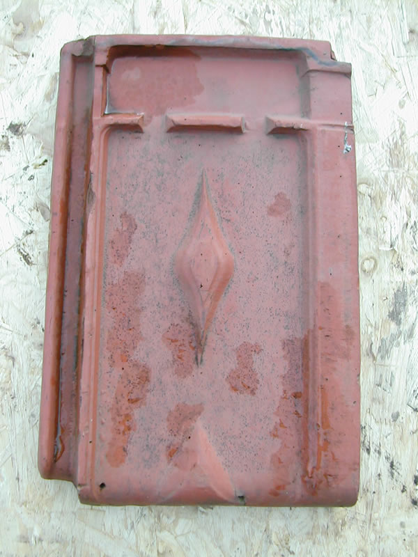 bensreckyard ebay photo Clay roof tile with diamond pattern 12
